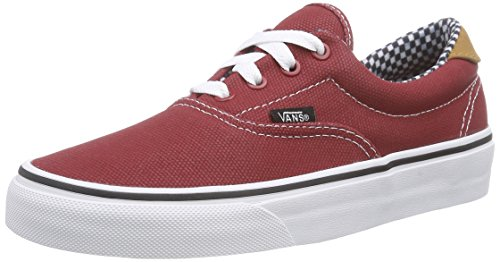 Vans ERA 59 Unisex-Erwachsene Sneakers Rot ((Waxed Canvas) chili pepper)