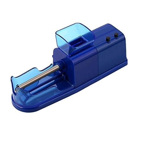 Gaddrt Automatique de Tabac Électrique Rouleau Automatique Machine à Roulettes Injecteur de Cigarettes (Bleu)
