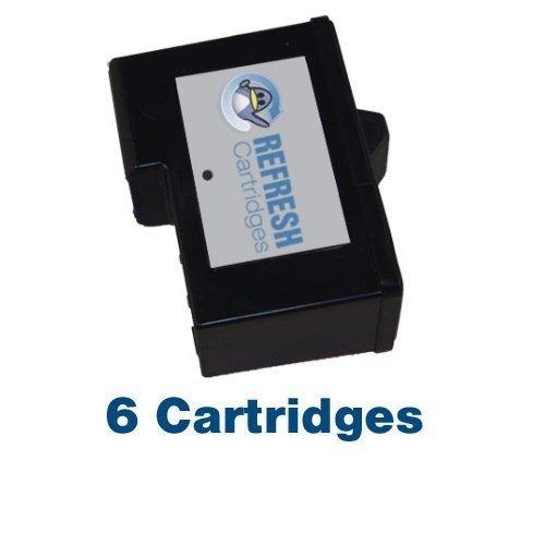 7y743 Tintenpatrone (6 stück x Dell 7Y743 (Schwarz 592-10043) Wiederaufgefüllt Patronen für die verwendung mit Dell A940 and A960 Drucker - Refresh Cartridges)