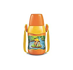 MILTON Kool Sonic Water Bottle Plastic Color Orange Size 400 ML
