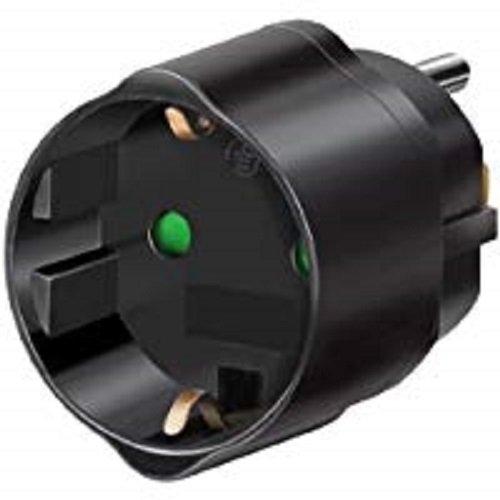 Brennenstuhl Reisestecker/Reiseadapter (Reise-Steckdosenadapter für USA Steckdose und Euro Stecker) schwarz