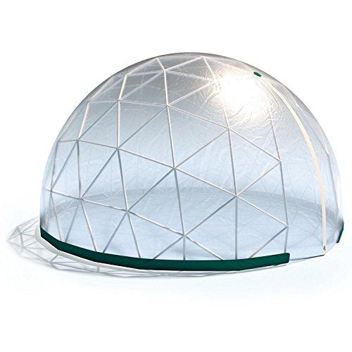 Blumfeldt Star Dome • Gartenzelt • Partyzelt • Bierzelt • Pflanzzelt • Segmentzelt • wasserdicht • rostfrei • aus PVC-Kunststoff • Maße: 3,6 x 2,2 m (ØxH) • Stecksystem • Grundfläche: ca. 10 m²