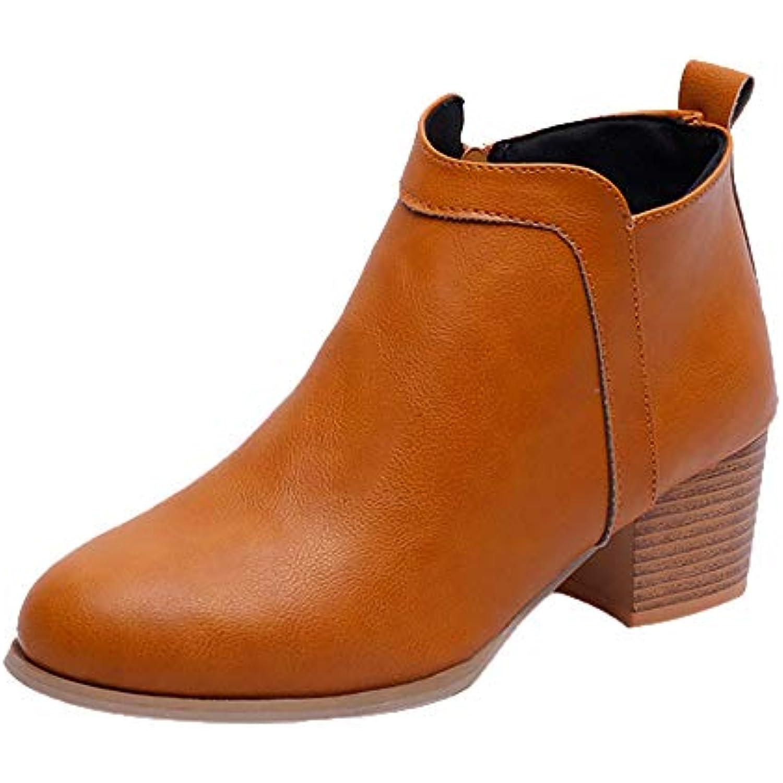 Femme Eacute pais Weant Bottines Bottes Talon Chaussures EPq14P 47ea3458093