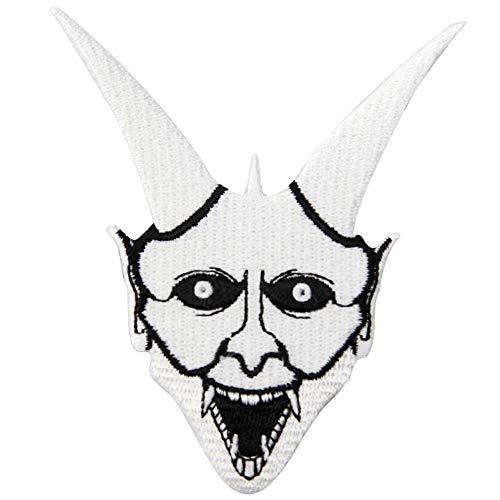 ZEGIN Aufnäher, Bestickt, Design: Oni Ghost, zum Aufbügeln oder Aufnähen