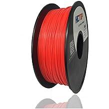 HICTOP 1.75mm PLA 3D Filamento de la impresora - Carrete de 1 kg (2,2 libras) - Precisión dimensional +/- 0,05 mm (rojo)
