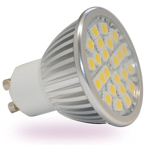 Compatibles variateur d'intensité Culot GU104W LED blanc chaud 24pièces de 5050SMD Haute Puissance 50W Luminosité 330lumens Boîtier en aluminium