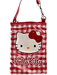 Hello kitty by camomilla - pochette etui gsm mp3 avec poignee - collection lolly - rouge