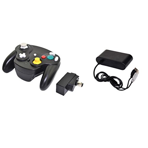 Segolike Wireless Console Controller Joystick Digital Analog Two Mode + Controllers Converter Adapter for Nintendo GameCube/Wii U GC