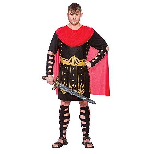 (M) Medium Mens Roman Warrior Costume for Centurion Gladiator Ceaesar Fancy Dress Outfit