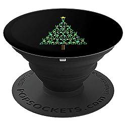 Barbier Christmas Friseur Weihnachtsbaum Nikolaus Geschenk - PopSockets Ausziehbarer Sockel und Griff für Smartphones und Tablets
