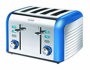 Breville Opula Collection VTT337 Stainless Steel 4 Slice Toaster - Topaz Blue