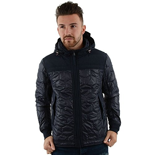 Duck & Cover Duck And Cover 1K0010 Axis Hooded Terrace Jacket - Navy Navy