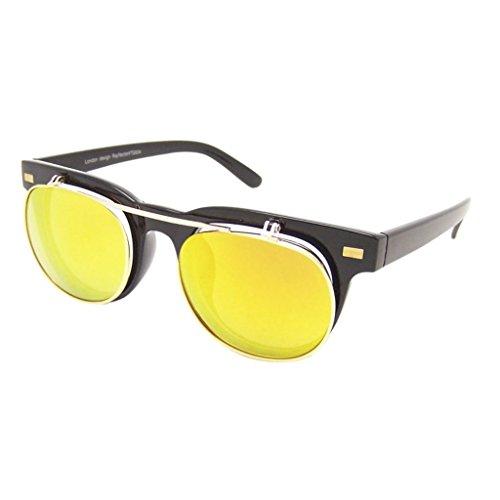 Retro Sonnenbrille 50er Jahre Vintage Flip up Glasses Damen Herren RF197 (REVO-VERSPIEGELT)