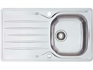Franke évier encastrable Libera LIX 611 acier inox lisse, cuve réversible - 1010028270