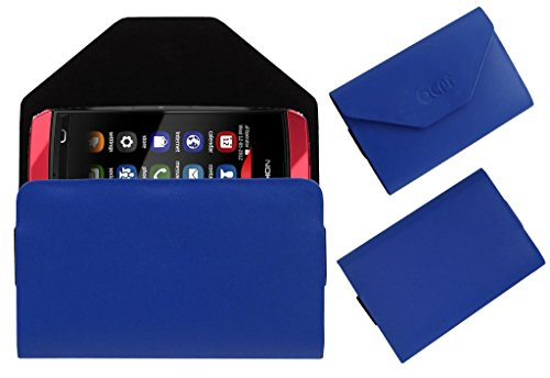 Acm Premium Pouch Case For Nokia Asha 305 Flip Flap Cover Holder Blue  available at amazon for Rs.179