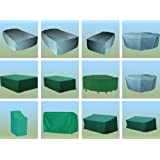 Various Garden Furniture Cover Waterproof Patio Table Bench Staking Chairs Swing Hammock (For 4 Seater Bench--193cm(L)*66cm(W)*86/63cm(H)--Durable