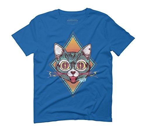 SparKat #3 Men's Graphic T-Shirt - Design By Humans Royal Blue