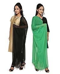 Dupatta Bazaar Womens Dupatta (Pack of 2)(CD0045_Multi-Coloured_Free Size)