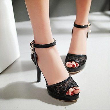 LvYuan Sandali-Matrimonio Tempo libero Formale Casual-Comoda Innovativo Club Shoes-A stiletto-Materiali personalizzati Finta pelle-Nero Rosa Pink