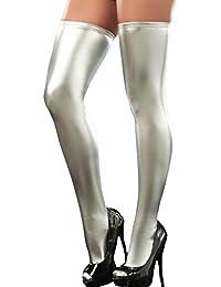 Queenshiny® Sexy Bas Collant Effet Mouillé Auto-fixant Taille unique 7217fd717aa