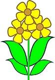 Indigos 4052166726078 sticker mural motif rose jaune mE455 années 40 x 29 cm