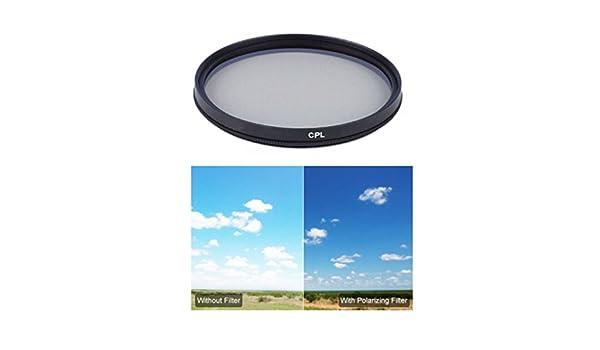 Multithreaded Glass Filter Circular Polarizer Multicoated For Sony Alpha SLT-A65 C-PL 62mm