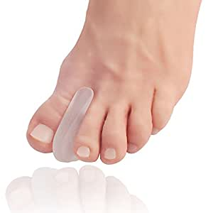 Dr. Frederick's Original Flared Gel Toe Separators - 6 Pieces - Toe Spacers - Bunion Relief - Flared design Stays in Place