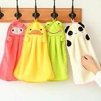 UCTOP STORE Juego de 4 toallas de microfibra absorbentes para niños con formas de dibujos animados para uso en cocina o baño