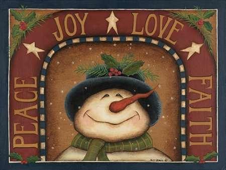 snowman Von Lewis, Kim Kunstdruck auf Leinwand - Klein (41 x 30 cms )