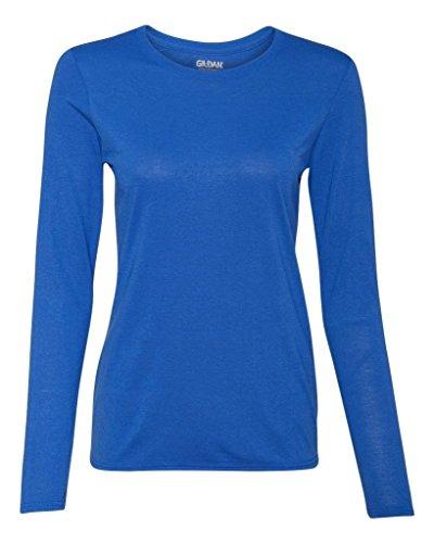 Gildan Performance® Ladies` Long Sleeve T-Shirt Blau - Königsblau
