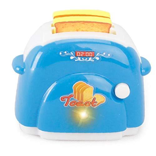 IUwnHceE 1pcs Simulation Game House Haushaltskleingeräte Spielzeug (Blau Brot-Maschine) Für Kinder Baby
