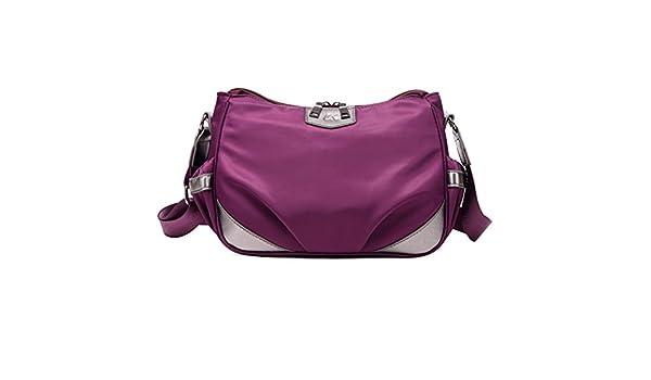 ba3c961d6cc19 Leichte Umhängetasche Damen Nylon-Handtaschen Einzigen Diagonalen  Umhängetasche Sporttasche  Amazon.de  Koffer