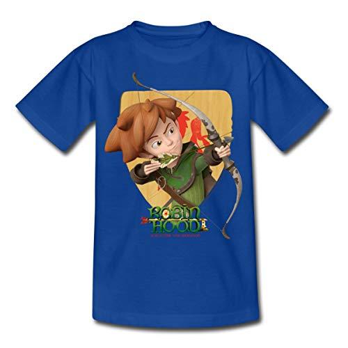 Spreadshirt Robin Hood Schießt Mit Seinem Bogen Kinder T-Shirt, 110/116 (5-6 Jahre), Royalblau