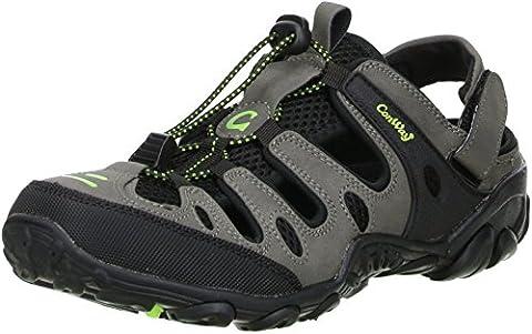 ConWay Damen Herren Trekkingsandalen Outdoorschuhe schwarz/grau/grün, Größe:41;Farbe:Grau