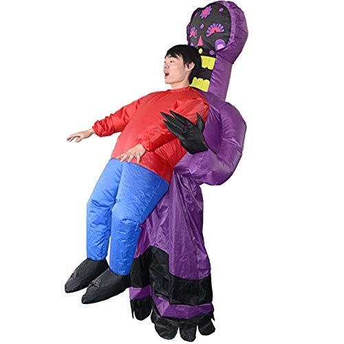 costume gonfiabile per adulti-Halloween fantasma parodia tenere le persone abbigliamento gonfiabile (Include asciugacapelli)