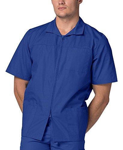 Adar Schrubb-Jacke für Männer, Arbeitsjacke für Krankenschwestern & Ärzte 607 Farbe: RYL   Größe: L