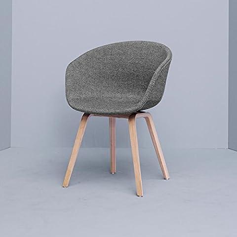 HAY About a Chair 23sedia con braccioli imbottita, grigio plastica