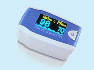 Doigt oxymètre de pouls pour les enfants inclus C5 D MD 300 libre dur Case Slidebox de silicone protecteur, et 2 piles (AAA)