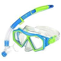 Aqua Lung Sc225112 Molokai Snorkeling Diving Junior Mask And Snorkel Set, Blue And Green