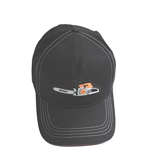 Preisvergleich Produktbild Stihl Base Cap Mütze Golfmütze Baumwolle schwarz one fits All Motiv Motorsäge