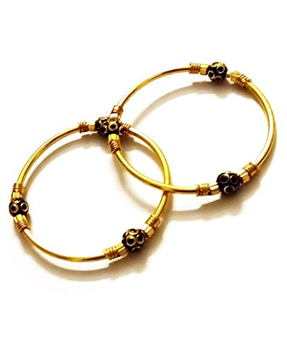 AkinosKIDS Golden and Black Traditional Bracelet popularly known as Nazariya.(JW39)