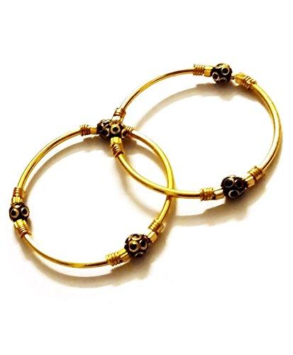 AkinosKIDS Golden and Black Traditional Bracelet popularly known as Nazariya.(JW39)