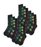 Sockstack®, 12paia di calzini da uomo in misto cotone, taglia UK 6-11,taglia EUR 39-45 High Life Weed