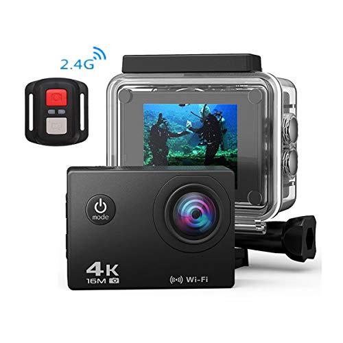mera, Wasserdichte Unterwasser-Kamera, 170 ° Weitwinkel WiFi Portable Sport Fahrrad Recorder Video Wireless,White ()