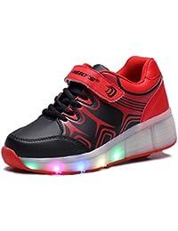 Con las luces LED parpadeantes zapatos del patín del patín