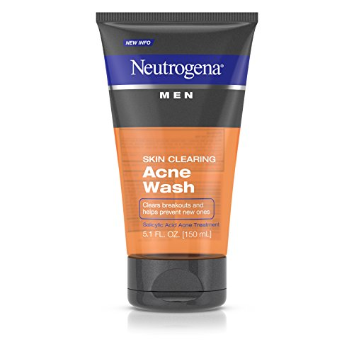 Neutrogena Men's Skin Clearing Acne Wash, 5.1 Ounce (Pack of 2)