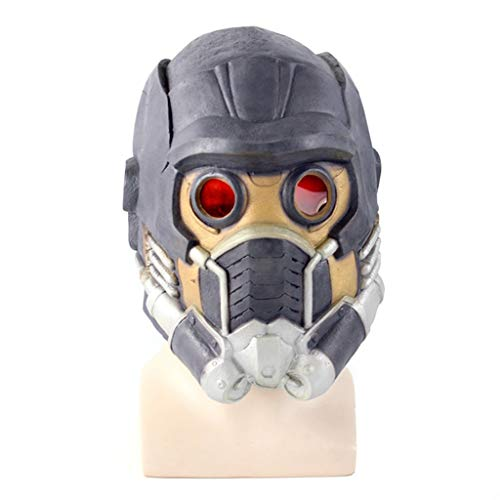 QWEASZER Wächter der Galaxis, Marvel Avengers Guardians Mask Hero Filmspiel Anime Mask Halloween Latex Headgear,Marvel Avengers Guardians Mask-OneSize
