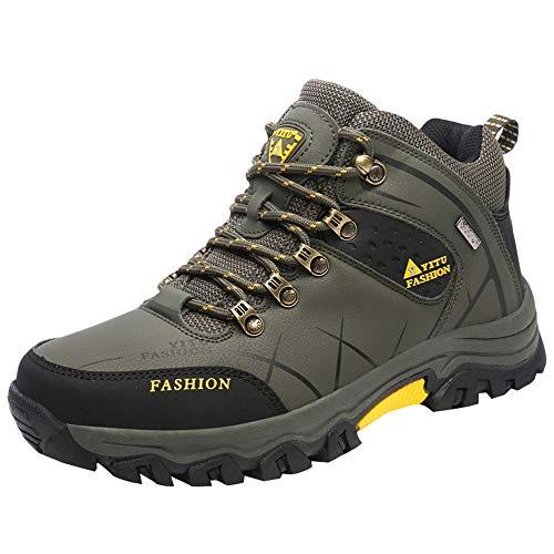 Ginli scarponcini da trekking da uomo, impermeabile scarpe da trekking da trekking stivaletti all'aperto