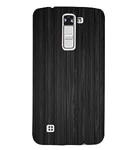 Grey Lines Pattern 3D Hard Polycarbonate Designer Back Case Cover for LG K7 :: LG K7 Dual SIM :: LG K7 X 210 X210DS MS330 :: LG Tribute 5 LS675
