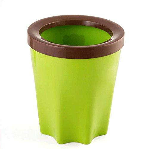 LYL Salle de séjour familiale Salle de bain Coussin de poubelle de cuisine Creative N ° panier en plastique (24,2 * 28,2 cm) (Couleur : Vert)